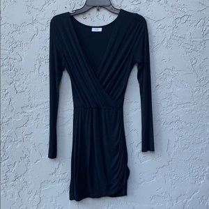 Tobi black long sleeve dress xs